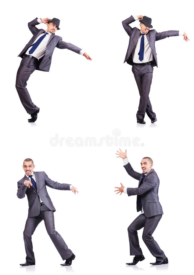 Бизнесмен танцев стоковое фото rf