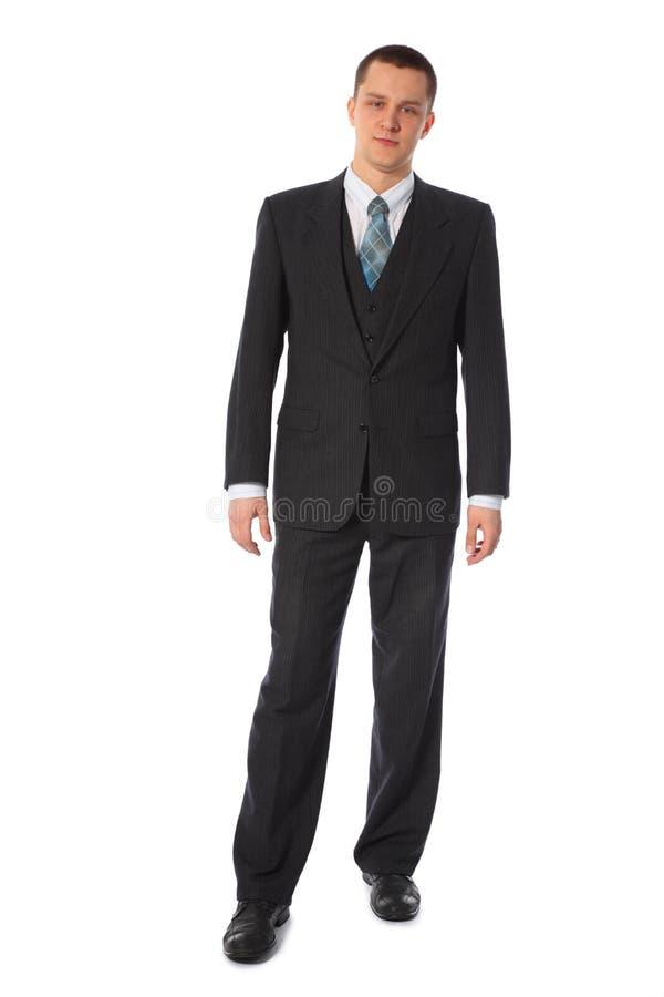 бизнесмен тела вполне стоя молод стоковые изображения rf