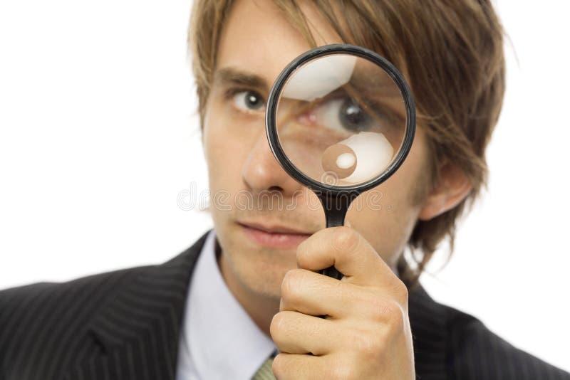 бизнесмен увеличивает стоковое изображение rf
