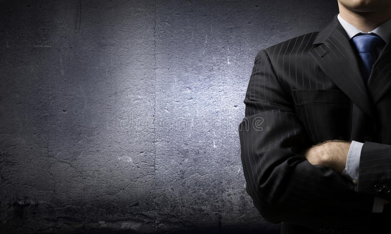 Download бизнесмен уверенно стоковое изображение. изображение насчитывающей одно - 41651977