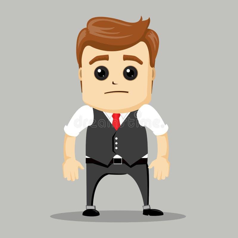 бизнесмен унылый бизнесмен несчастный бесплатная иллюстрация