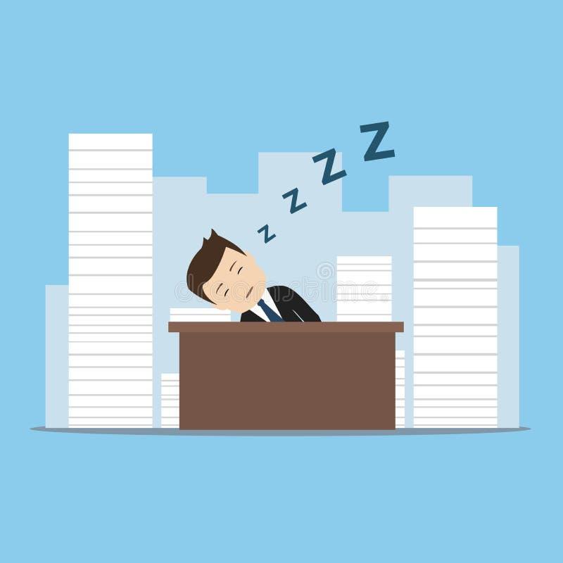 бизнесмен утомлял стоковое изображение