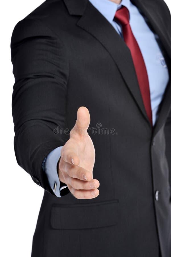 Бизнесмен хотеть трясти руки с вами стоковые изображения