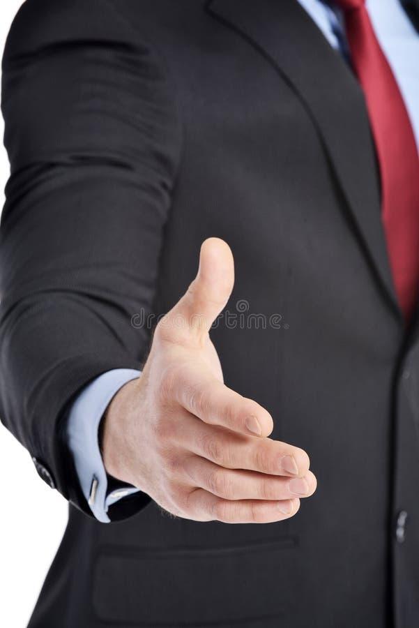 Бизнесмен хотеть трясти руки с вами стоковое фото rf