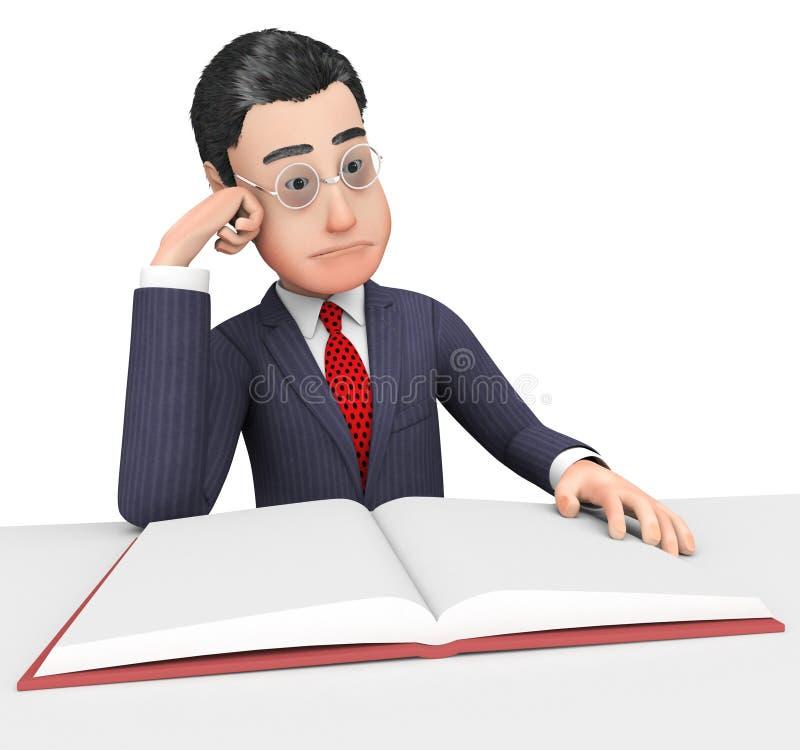 Бизнесмен Чтение Книга Показывать Школа Читать и Корпорация бесплатная иллюстрация