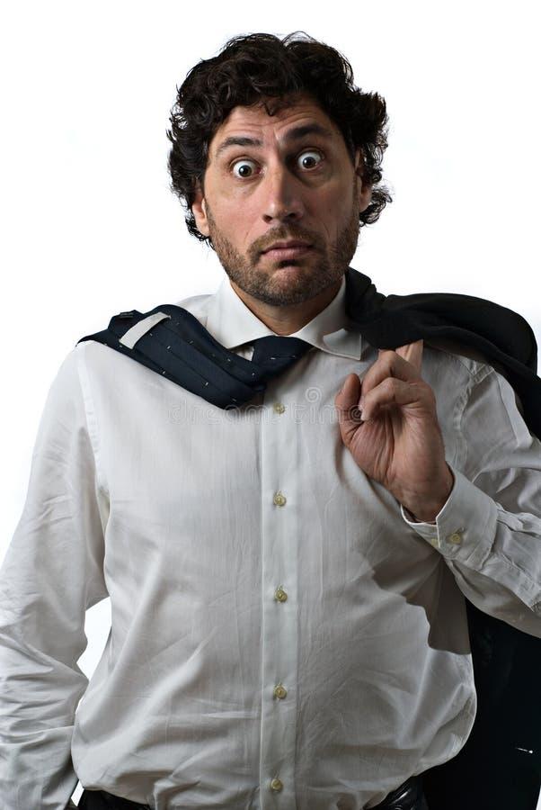 бизнесмен шальной стоковая фотография