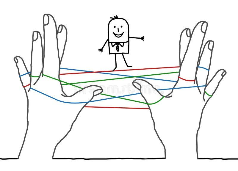Бизнесмен шаржа - чистая сеть иллюстрация штока