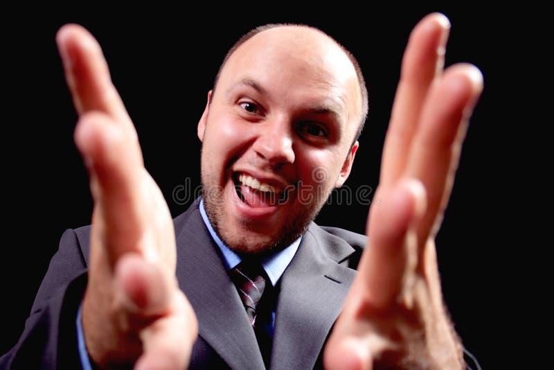 бизнесмен эмоциональный стоковое изображение