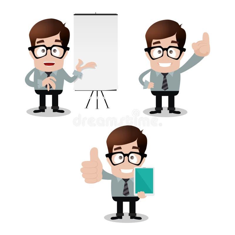 Download Бизнесмен иллюстрация вектора. иллюстрации насчитывающей удерживание - 41662424