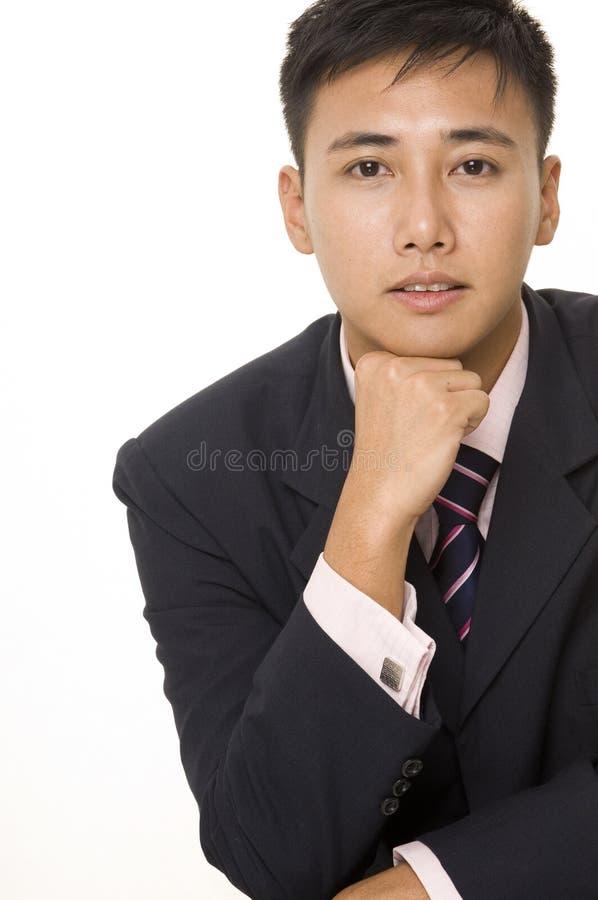 бизнесмен 5 азиатов стоковое фото