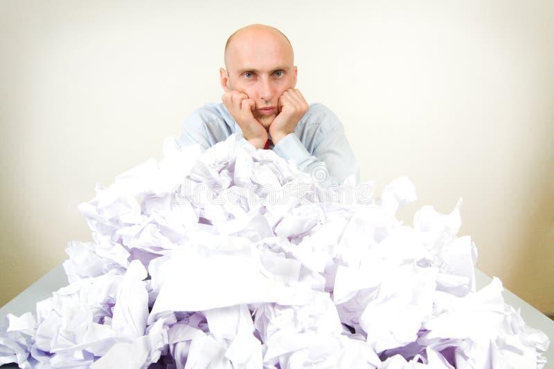 бизнесмен overworked стоковое фото