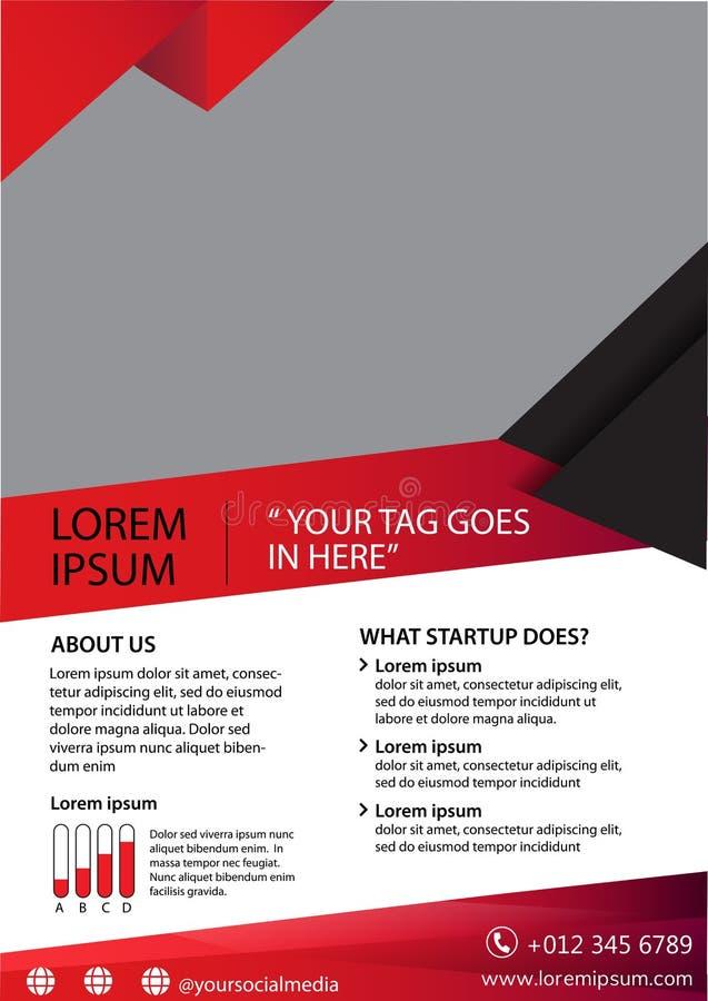 Бизнес-брошюра Корпоративная компания магазин листовки реклама баннер a4 вектор бесплатная иллюстрация