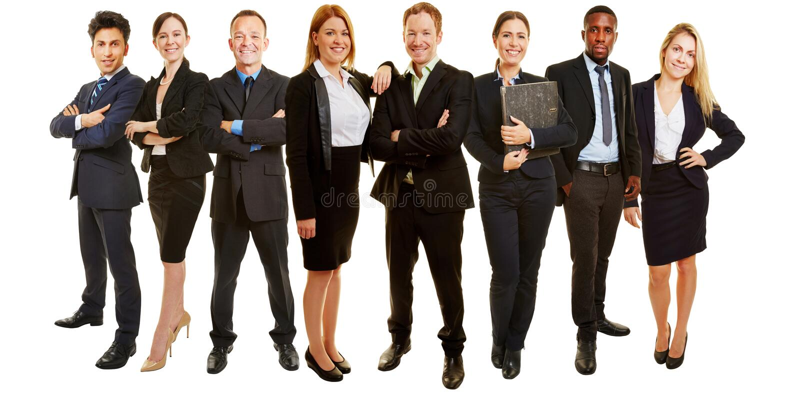 Бизнес-группа как советуя с команда стоковое изображение rf