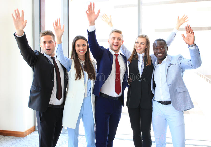 бизнес-группа успешная стоковое изображение