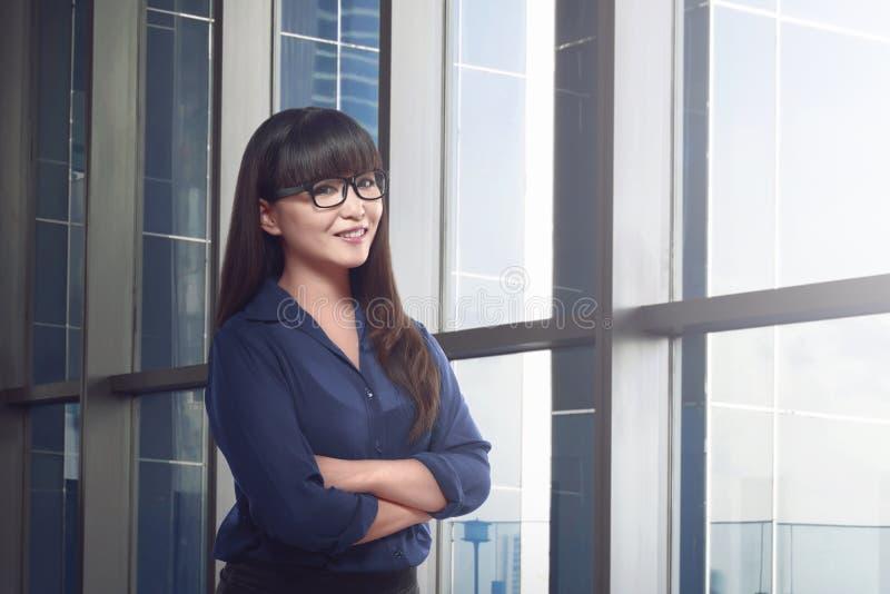 Бизнес-леди азиата Confindent стоковое изображение rf