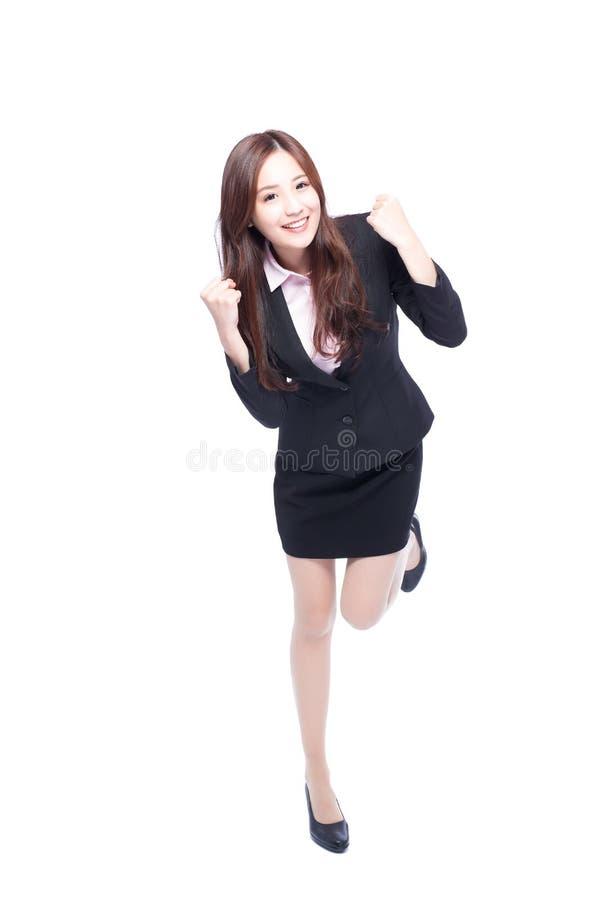 Бизнес-леди делает кулак стоковое фото rf