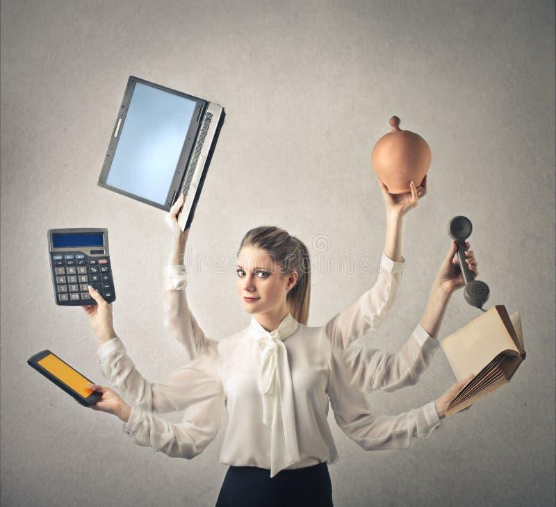 Бизнес-леди с сериями рук стоковые изображения