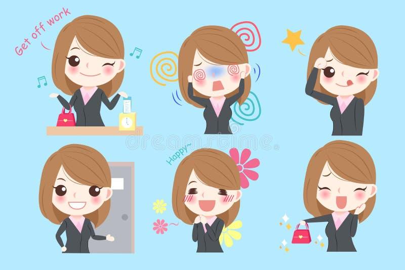 Бизнес-леди шаржа бесплатная иллюстрация