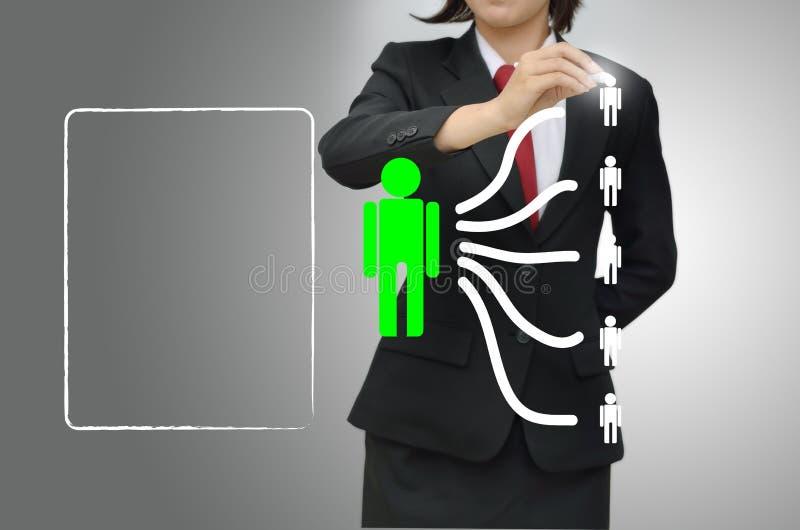 Бизнес-леди (hr) выбрала талант персоны иллюстрация штока