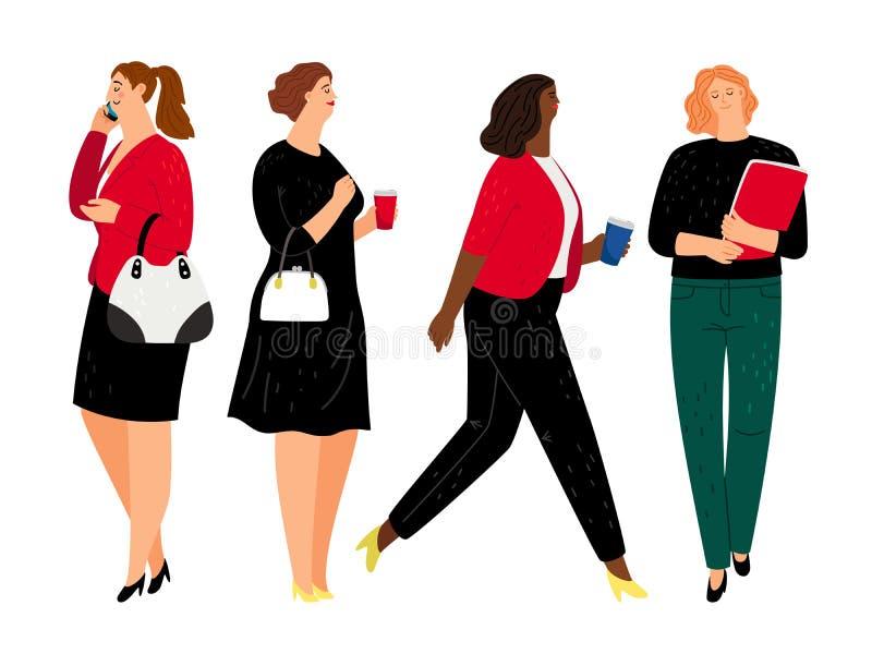 Бизнес-леди в официальных одеждах иллюстрация штока