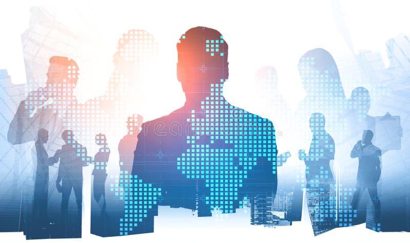 Бизнес лидер и команда, международная компания стоковые фото