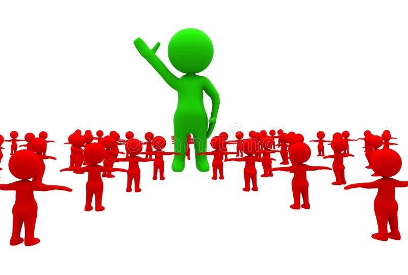 Бизнес лидер иллюстрация штока