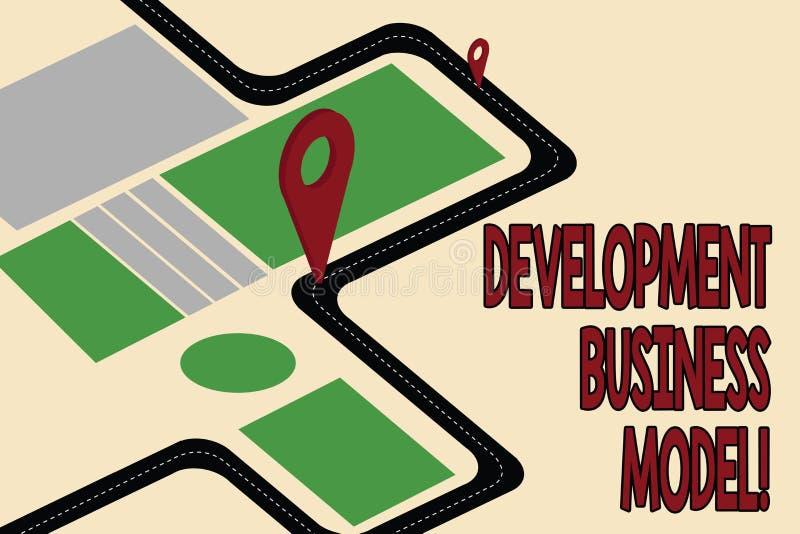 Бизнес модель развития текста почерка Концепция знача разумное объяснение как организация создала дорожную карту иллюстрация вектора