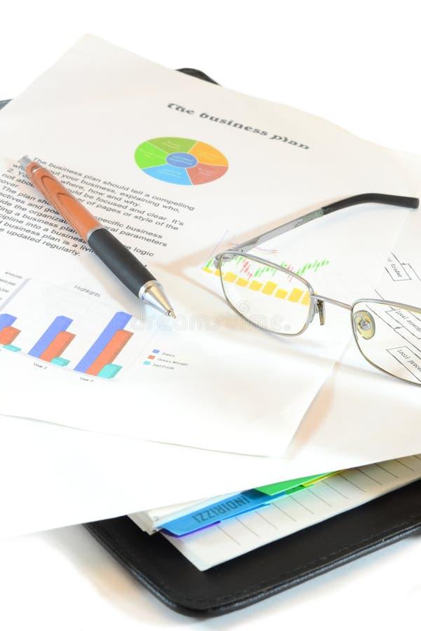 бизнес-план стоковая фотография rf