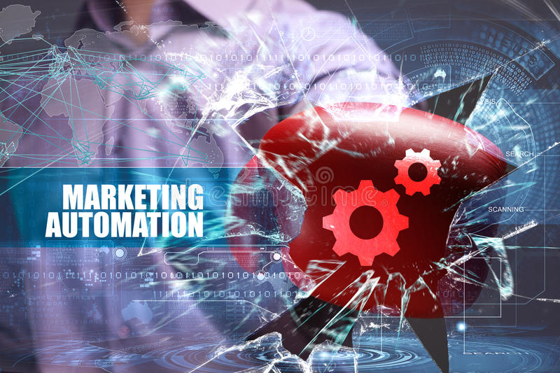 Бизнес технология Интернет маркетинг Автоматизация маркетинга стоковые фотографии rf