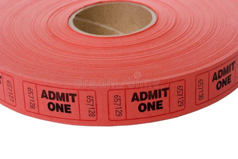 билеты допущения стоковая фотография rf