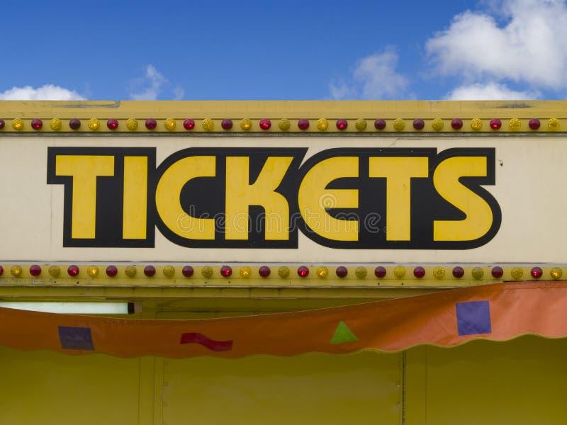 билеты знака стоковая фотография rf