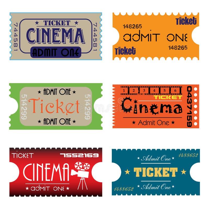 билеты кино 6 бесплатная иллюстрация