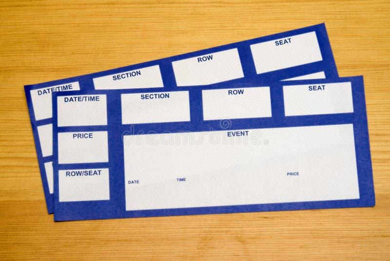 Билеты случая стоковые изображения rf