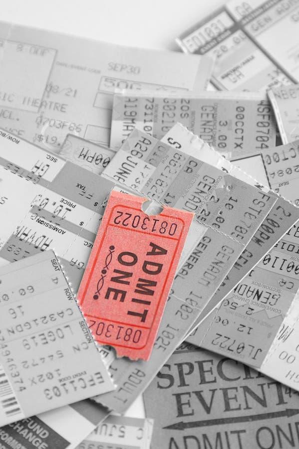 билеты случая стоковое изображение rf