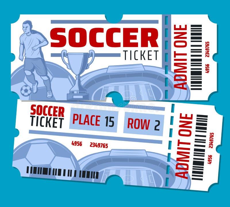 Билеты чемпионата футбола футбола вектора иллюстрация вектора