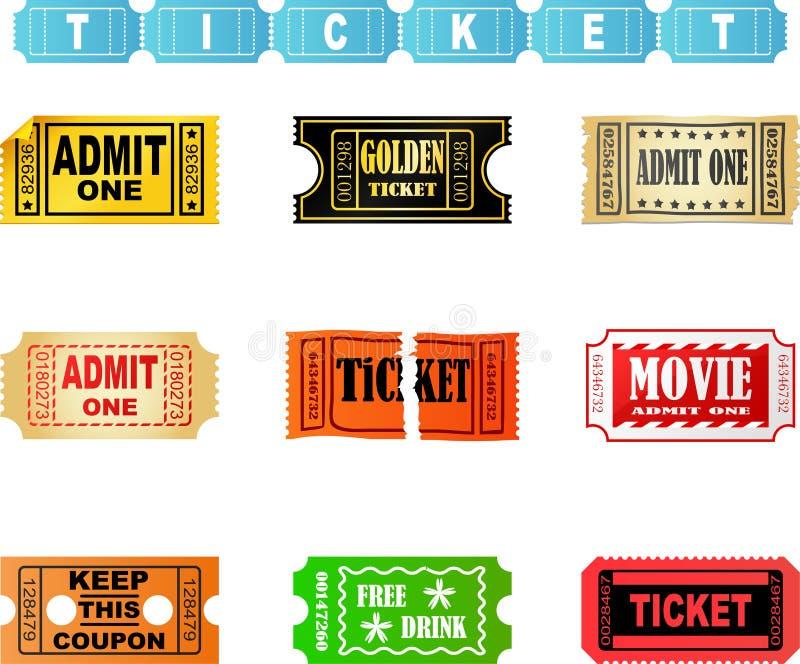 билеты бесплатная иллюстрация