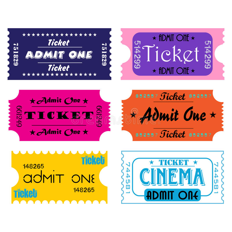 билеты иллюстрация штока