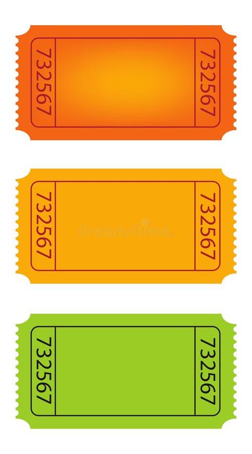 билеты иллюстрация вектора