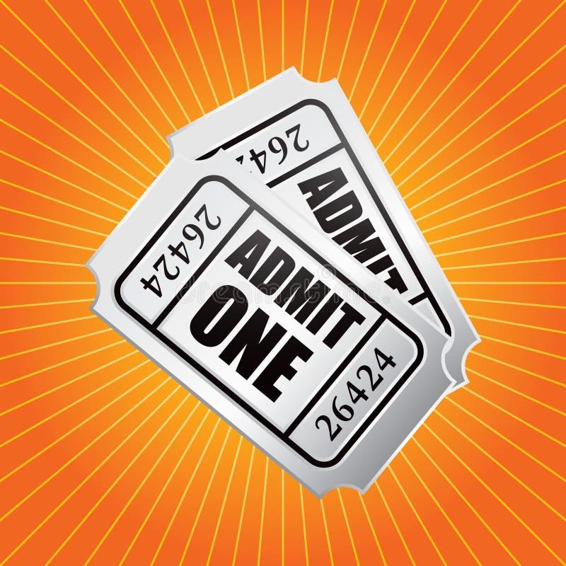 билеты starburst допущения померанцовые бесплатная иллюстрация
