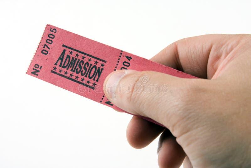 билет допущения стоковые изображения