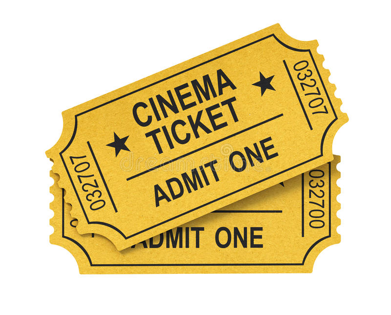 билет кино иллюстрация вектора