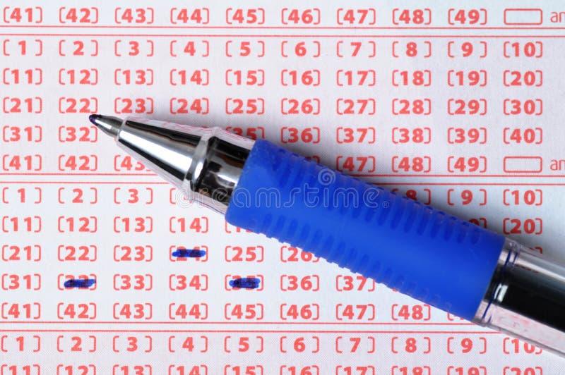 билет лотереи стоковое изображение