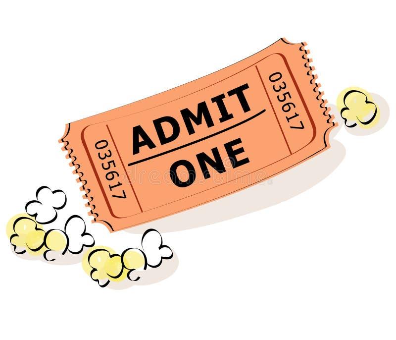 билет попкорна бесплатная иллюстрация