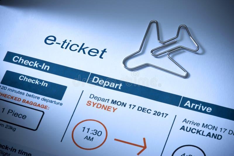 Билет самолета e перемещения