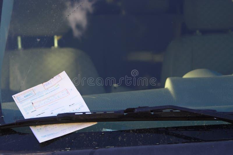 билет стоянкы автомобилей стоковые фотографии rf