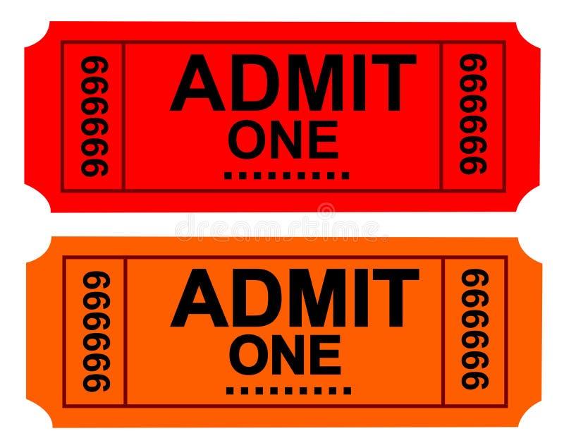 билет бесплатная иллюстрация