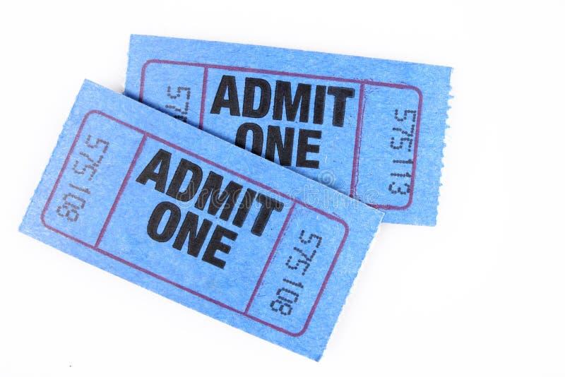 билет 2 стоковое изображение