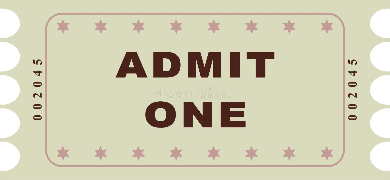 билет иллюстрация вектора