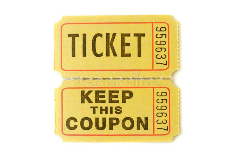 билет stub raffle стоковые изображения rf
