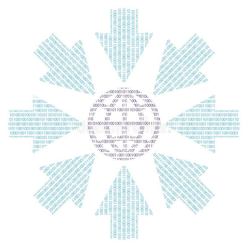 бинарная земля иллюстрация вектора